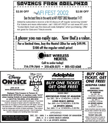 Adelphia coupon
